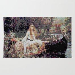 Lady of Shallot Glitch II Rug
