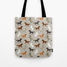 Horse Pattern | Horseback Riding Pony Stallion Tote Bag
