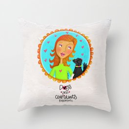 Dogs Are Confidants ❤️ Throw Pillow