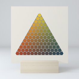 Lichtenberg-Mayer Colour Triangle vintage remake, based on Mayers' original idea and illustration Mini Art Print