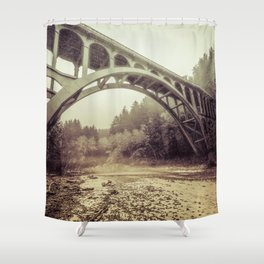 Cape Creek Bridge Oregon Coast Shower Curtain