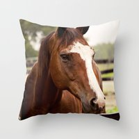 coco Throw Pillows featuring Coco by Images by Nicole Simmons