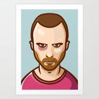 jesse pinkman Art Prints featuring Jesse Pinkman by Sherif Adel