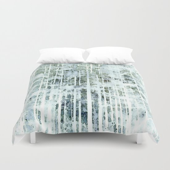 Painterly Woodlands Abstract Duvet Cover