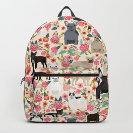 Frenchie floral french bulldog cute pet gifts dog breed must haves florals french bulldogs Backpack