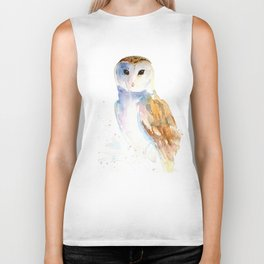 Evening Barn Owl Biker Tank