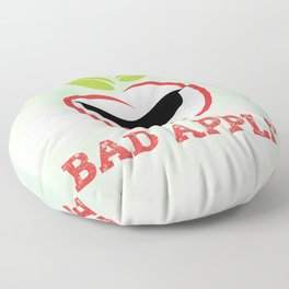 Bad Apple in Black Sunglasses with Attitude Floor Pillow