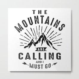 The Mountains Metal Print