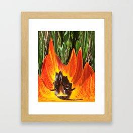 493 - Abstract Flower Design Framed Art Print