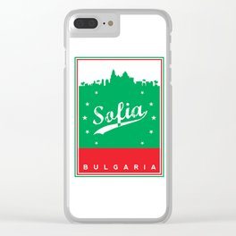 Sofia city, Bulgaria, poster, t-shirt Clear iPhone Case