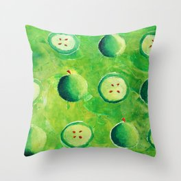 Apple halves Throw Pillow