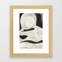 Tangle face Framed Art Print