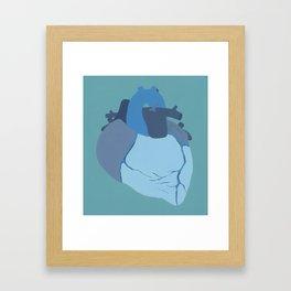 Melancholy Heart Framed Art Print
