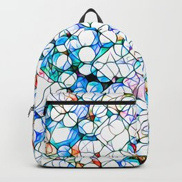 Glass stain mosaic 4 - dots & checkers Backpack