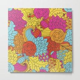 Paisley Pop Tangle #3 Metal Print
