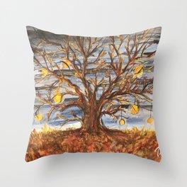 Lantern Tree Throw Pillow