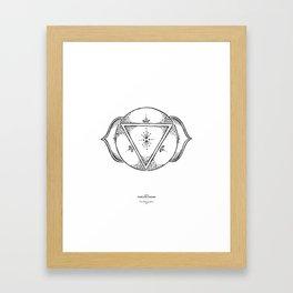 Third Eye Chakra - Black on white Framed Art Print