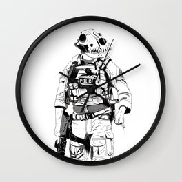 K9 B&W Wall Clock