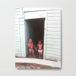 Children In Diapers Metal Print