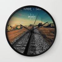 infinite Wall Clocks featuring infinite by Smile_Error