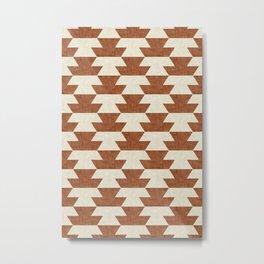 boho geometric aztec in ginger Metal Print