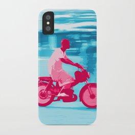 Motorbike Guy iPhone Case
