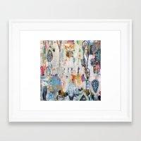 "flora bowley Framed Art Prints featuring ""Solstice"" Original Painting by Flora Bowley by Flora Bowley"