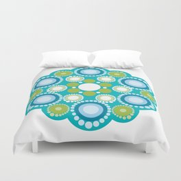 Mandala lots flower Duvet Cover