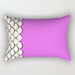Fuscia Scales Rectangular Pillow