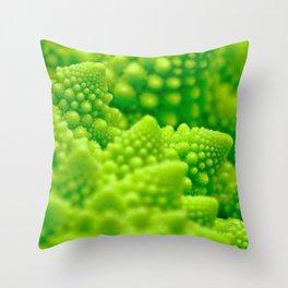 Macro Romanesco Broccoli Throw Pillow