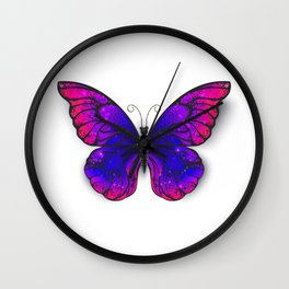 Tricolored Butterfly Wall Clock