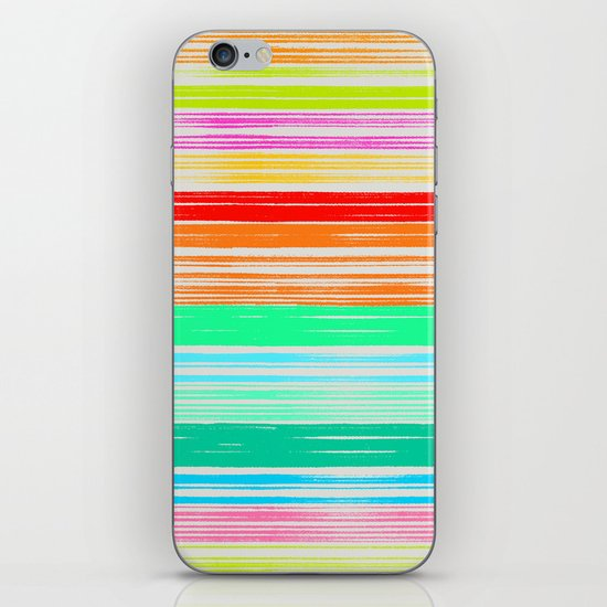 Waves_Multicolor2 iPhone & iPod Skin