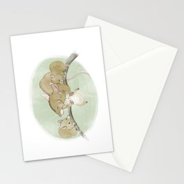 Mouse Family  Stationery Cards