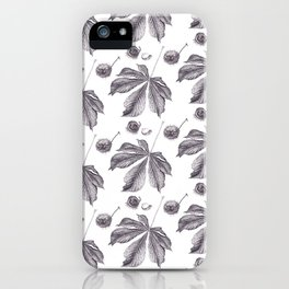 Floral pattern horse-chestnut iPhone Case