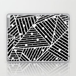 Abstraction Spots Close Up Black Laptop & iPad Skin