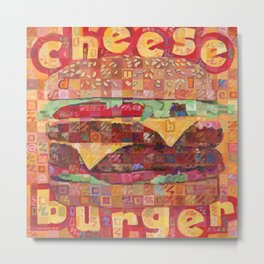 Double Cheeseburger Metal Print