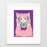 risa rodil Framed Art Prints featuring Risa by blah
