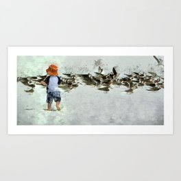 Bird Play Art Print