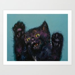 Ninja Kitten Art Print