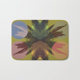 Palm tree and shapes Bath Mat