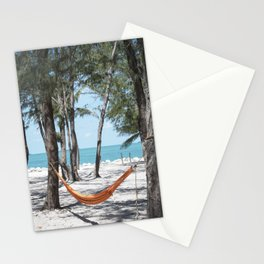 Relaxation in a hammock Stationery Cards