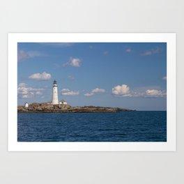 Boston Harbor Lighthouse Art Print