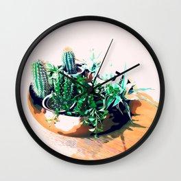 Cacti in a Copper Pot #society6 #decor #buyart Wall Clock