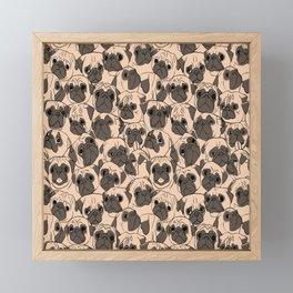 Fawn Pugs Framed Mini Art Print