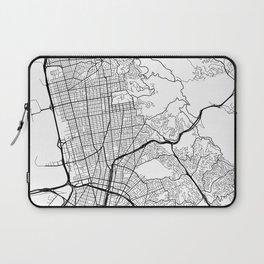 Berkeley Map, USA - Black and White Laptop Sleeve