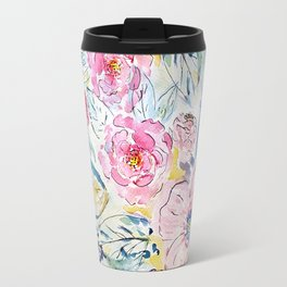 Watercolor hand paint floral design Travel Mug