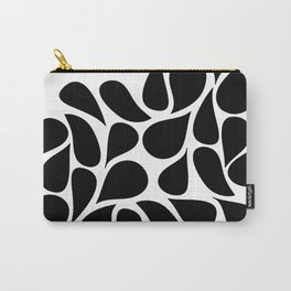 Small Abstract Black & White Foliage Pattern - Mix and Match with Simplicity of Life Carry-All Pouch