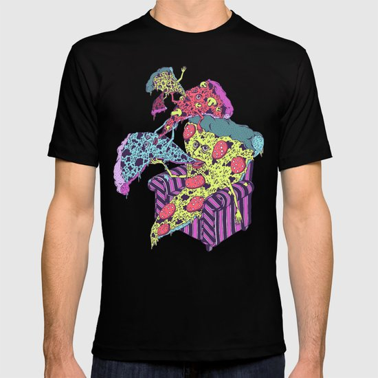 Pizza Eating Pizza - Pink Edition T-shirt