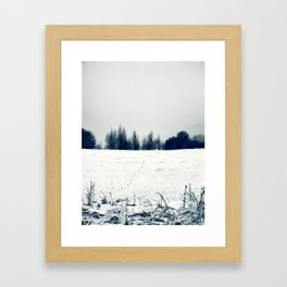 Winter landscape Framed Art Print