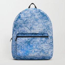 Blue Shimmer Map Design Backpack